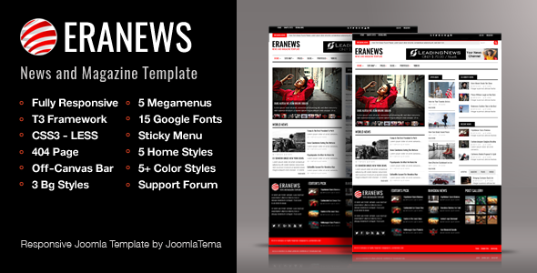 Eranews Joomla  News and Magazine Template