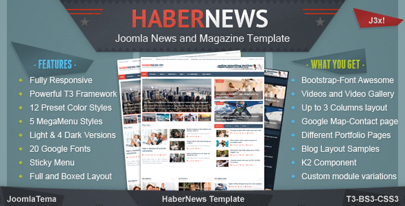 Habernews Joomla News and Magazine Template